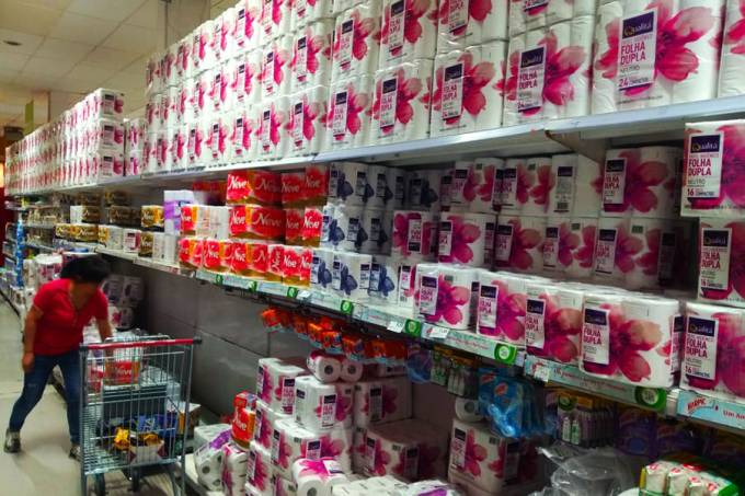 magalu - produto mais vendido na black friday foi papel higiênico